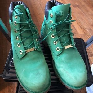 Timberland boys green boots